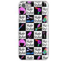 FABULOUS HAIR STYLIST BLACK CHECKERED DESIGN iPhone Case/Skin