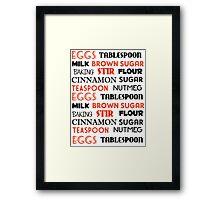 Cinnamon, Sugar and Spice Framed Print