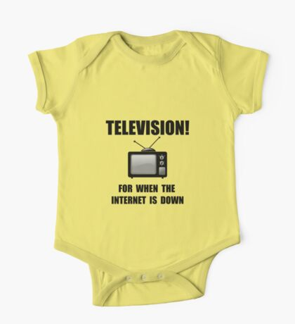 Television Internet Down One Piece - Short Sleeve