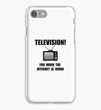 Television Internet Down iPhone Case/Skin