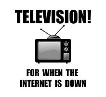Television Internet Down Photographic Print