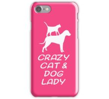 CRAZY CAT & DOG LADY iPhone Case/Skin