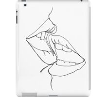 a kiss in one line iPad Case/Skin