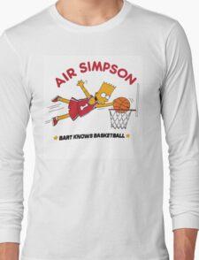 AIR SIMPSON-BART KNOWS BASKETBALL Long Sleeve T-Shirt