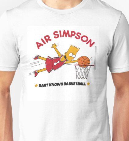AIR SIMPSON-BART KNOWS BASKETBALL Unisex T-Shirt