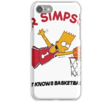 AIR SIMPSON-BART KNOWS BASKETBALL iPhone Case/Skin