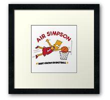 AIR SIMPSON-BART KNOWS BASKETBALL Framed Print