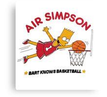 AIR SIMPSON-BART KNOWS BASKETBALL Canvas Print