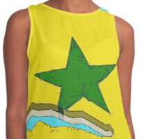 Senegal Map With Senegalese Flag Contrast Tank