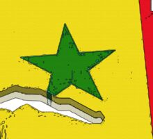 Senegal Map With Senegalese Flag Sticker