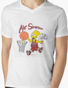 AIR SIMPSON-IT'S IN THE SHOES Mens V-Neck T-Shirt