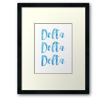Delta Delta Delta Framed Print