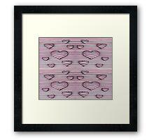 3d heart style desing Framed Print
