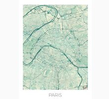 Paris Map Blue Vintage Unisex T-Shirt