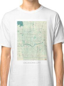 Oklahoma City Map Blue Vintage Classic T-Shirt