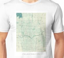 Oklahoma City Map Blue Vintage Unisex T-Shirt