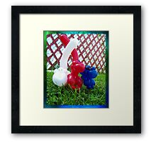 Playful Balloon Monkeys Framed Print