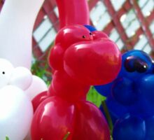 Playful Balloon Monkeys Sticker