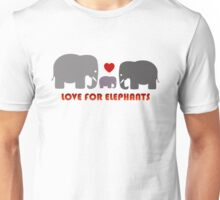 Love For Elephants Unisex T-Shirt