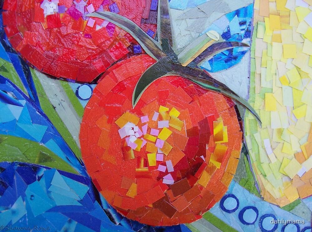Garden Harvest Collage Detail by Shawna Rowe