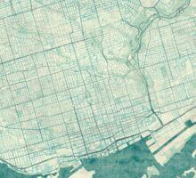 Toronto Map Blue Vintage Sticker
