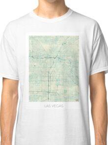 Las Vegas Map Blue Vintage Classic T-Shirt