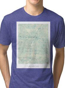 Las Vegas Map Blue Vintage Tri-blend T-Shirt