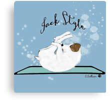 Jack Style - Jack Russell Terriers Doing Yoga on Your Stuff Canvas Print