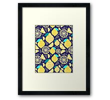 Bright pattern of lemons  Framed Print