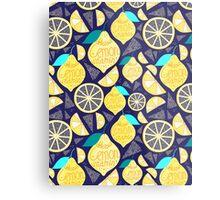 Bright pattern of lemons  Metal Print