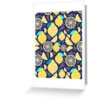 Bright pattern of lemons  Greeting Card