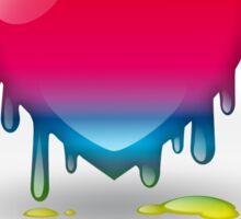 multicolored heart dripping Sticker