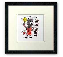 AIR BART CHICAGO BULLS Framed Print