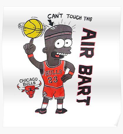 AIR BART CHICAGO BULLS Poster