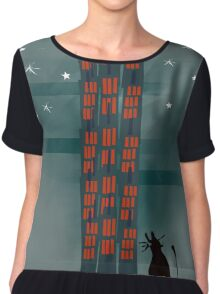 Animal's Nightlife - Urban Cat Chiffon Top