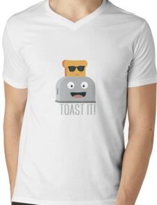 Toaster with cool bread   Mens V-Neck T-Shirt