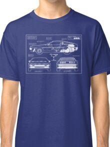 Back to the Future DeLorean blueprint Classic T-Shirt