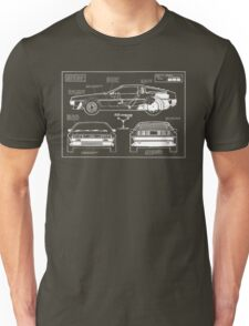 Back to the Future DeLorean blueprint Unisex T-Shirt