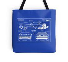 Back to the Future DeLorean blueprint Tote Bag