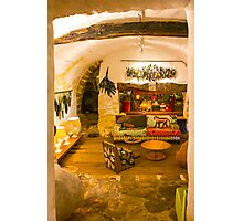 Vintage interior in Provence du Var, France Photographic Print