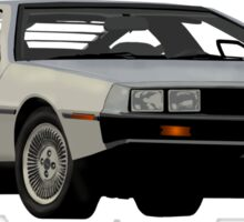 DeLorean Vector Sticker