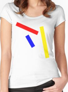 Abstract basic colors Women's Fitted Scoop T-Shirt