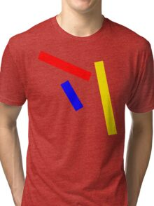 Abstract basic colors Tri-blend T-Shirt