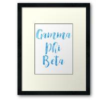 Gamma Phi Beta Framed Print