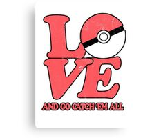 Poke-Love #2 Canvas Print