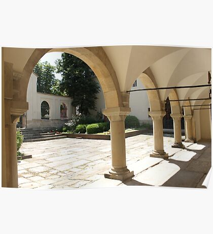 Armenian Cathedral Courtyard Poster