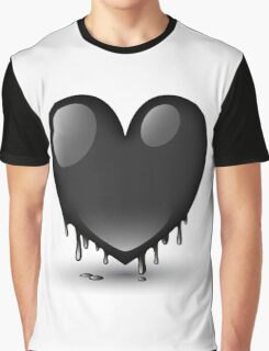 black heart dripping Graphic T-Shirt