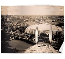 View from the London Eye Poster