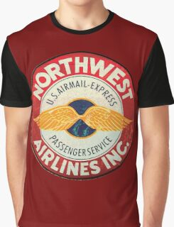 Northwest Airlines Vintage sign Graphic T-Shirt
