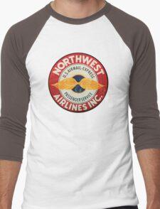 Northwest Airlines Vintage sign Men's Baseball ¾ T-Shirt